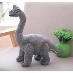 peluche dinosaure gris