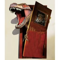 sticker mural dinosaure 3D