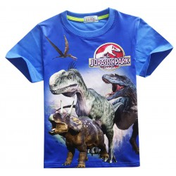 Tee shirt jurassic park bleu