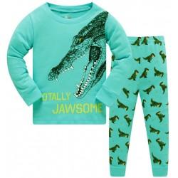 Pyjama motif Dinosaure bleu ciel