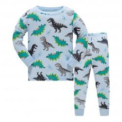 Pyjama Dinosaure T Rex bleu turquoise