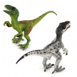Figurine Dinosaure Vélociraptor en plastique de collection