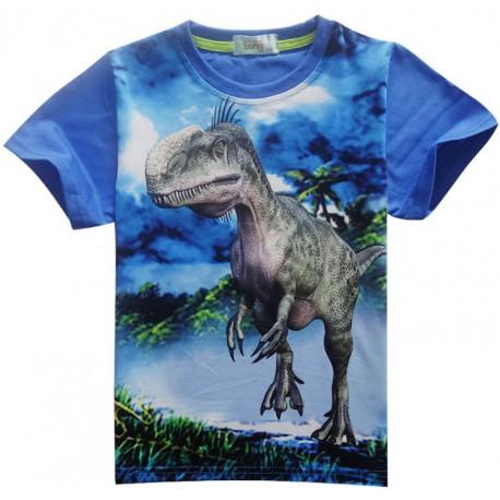 Tee Shirt Dinosaure imprimé 3D Bleu