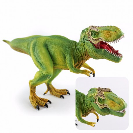 Figurine Wiben Tyrannosaurus Rex Vert  de collection en plastique