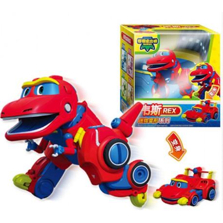 Jouet dinosaure qui se transforme en voiture