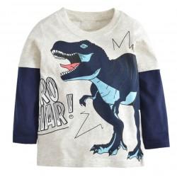 tee shirt manche longue dinosaure